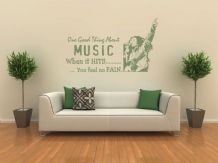 Bob Marley - When The Music Hits... Wall Art Quote, Wall Sticker, Modern Decal